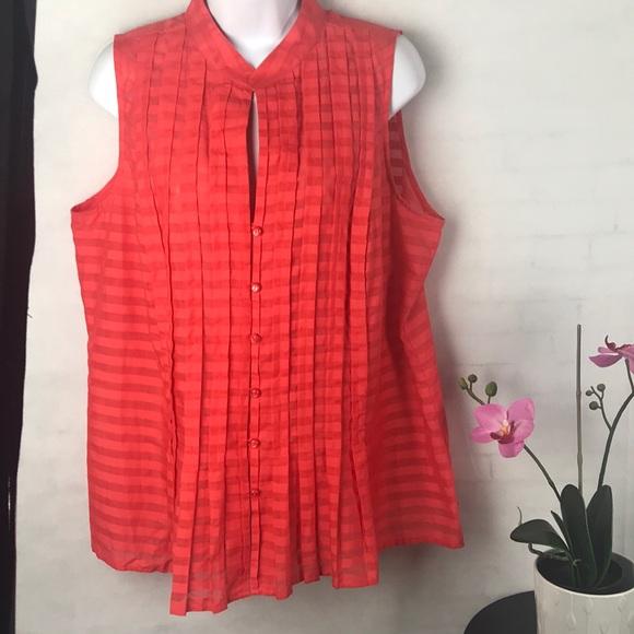 77815779389 Jones New York Tops - Jones New York signature orange summer blouse 1X